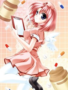 Rating: Safe Score: 8 Tags: jpeg_artifacts minase_lin nurse sorairo_no_organ thighhighs User: Davison