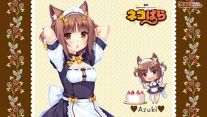 Rating: Safe Score: 43 Tags: animal_ears azuki chibi cleavage maid neko_para neko_works nekomimi sayori tail wallpaper User: ted423