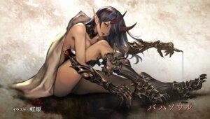 Rating: Questionable Score: 54 Tags: armor belphegor_(shingeki_no_bahamut) endcard heels horns nijihara pointy_ears shingeki_no_bahamut User: NotRadioactiveHonest