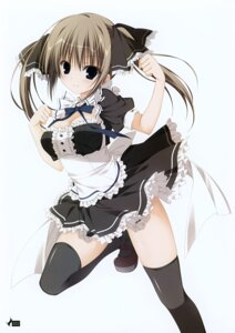 Rating: Safe Score: 40 Tags: cleavage inugami_kira maid seitokai_no_ichizon shiina_minatsu thighhighs User: Hatsukoi