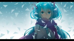 Rating: Safe Score: 47 Tags: hatsune_miku vocaloid wallpaper wogura User: Nekotsúh