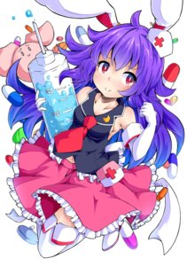 Rating: Safe Score: 34 Tags: animal_ears bunny_ears cleavage ishimu no_bra nurse reisen_udongein_inaba thighhighs touhou User: KazukiNanako