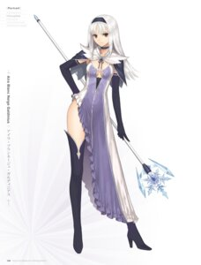 Rating: Questionable Score: 50 Tags: blanc_neige cleavage digital_version dress heels no_bra shining_blade shining_world thighhighs tony_taka weapon User: Twinsenzw