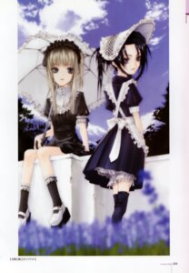 Rating: Safe Score: 13 Tags: bloomers konoe_ototsugu lolita_fashion maid thighhighs User: MirrorMagpie