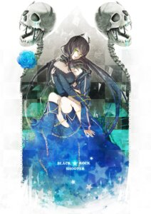 Rating: Safe Score: 20 Tags: bikini_top black_rock_shooter black_rock_shooter_(character) dead_master horns mashibaya vocaloid wings yuri User: charunetra