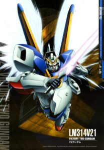Rating: Safe Score: 6 Tags: gundam kawahara_tomohiro mecha sword v2_gundam victory_gundam weapon wings User: drop