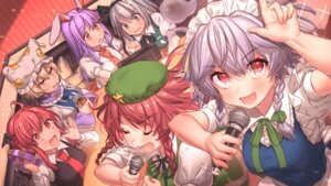 Rating: Safe Score: 14 Tags: animal_ears bunny_ears hong_meiling izayoi_sakuya koakuma konpaku_youmu maid masanaga_(tsukasa) reisen_udongein_inaba seifuku touhou wallpaper wings yakumo_ran User: Mr_GT