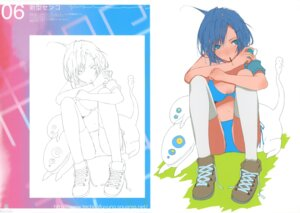 Rating: Safe Score: 18 Tags: bikini fuyuno_haruaki sketch swimsuits techno_fuyuno thighhighs User: midzki