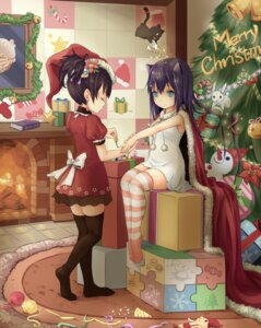 Rating: Safe Score: 34 Tags: animal_ears christmas hpflower thighhighs User: 椎名深夏
