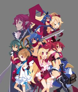Rating: Safe Score: 16 Tags: disgaea disgaea_d2 etna flonne harada_takehito laharl laharl-chan pointy_ears prinny sicily sword tail thighhighs transparent_png wings User: Radioactive