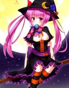 Rating: Questionable Score: 44 Tags: bekotarou cleavage dress halloween patchouli_knowledge touhou witch User: 椎名深夏