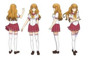 Rating: Safe Score: 23 Tags: character_design heels kono_yo_no_hate_de_koi_wo_utau_shoujo_yu-no seifuku shimazu_mio tagme thighhighs User: saemonnokami