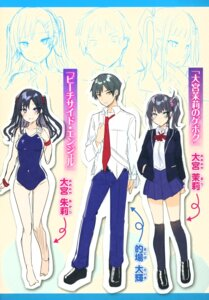 Rating: Safe Score: 15 Tags: character_design expression kakao school_swimsuit seifuku sketch swimsuits User: zyll