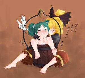 Rating: Questionable Score: 6 Tags: kiriu kisume kurodani_yamame loli touhou yuri User: Mr_GT