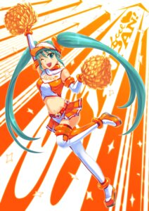 Rating: Safe Score: 15 Tags: cheerleader hatsune_miku shingo_(picturepuzzle) thighhighs vocaloid User: Mr_GT