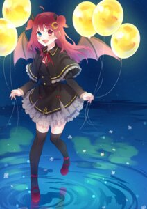 Rating: Safe Score: 15 Tags: chiyomaru dress heterochromia horns nijisanji thighhighs wings yuzuki_roa User: charunetra