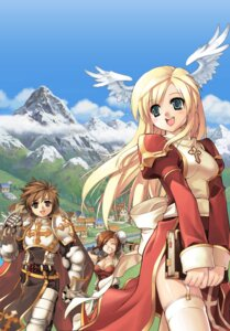 Rating: Safe Score: 10 Tags: armor champion cleavage high_priest lord_knight ragnarok_online stockings thighhighs wings User: Radioactive