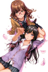 Rating: Safe Score: 19 Tags: heels megane naruko_hanaharu seifuku sweater tagme User: Spidey