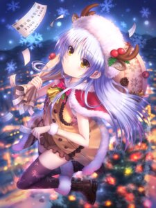Rating: Safe Score: 38 Tags: angel_beats! christmas goto-p horns tenshi thighhighs User: marechal