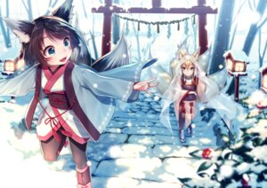 Rating: Safe Score: 53 Tags: animal_ears japanese_clothes kimono kitsune see_through tail warabimochi_kinako User: mash