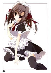 Rating: Safe Score: 32 Tags: ebiten inugami_kira maid thighhighs todayama_izumiko User: crim