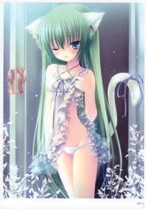 Rating: Questionable Score: 53 Tags: animal_ears bow dress nekomimi pantsu tail tinkle User: fireattack