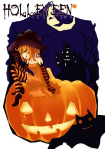 Rating: Safe Score: 8 Tags: daiyuzi halloween thighhighs witch User: charunetra