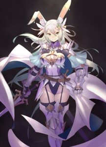 Rating: Safe Score: 65 Tags: animal_ears armor bunny_ears cleavage nadare stockings sword thighhighs User: nphuongsun93
