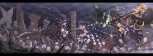 Rating: Safe Score: 14 Tags: armor bikini_top black_gold_saw black_rock_shooter black_rock_shooter_(character) chariot dead_master heels horns insane_black_rock_shooter strength swimsuits sword tagme thighhighs weapon User: Mr_GT