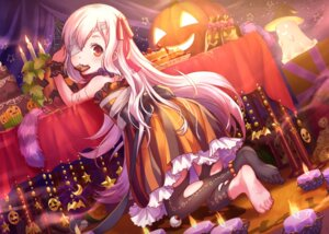 Rating: Safe Score: 45 Tags: bandages dress feet halloween maruyama-jp thighhighs torn_clothes User: nphuongsun93
