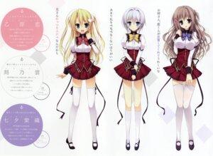 Rating: Safe Score: 58 Tags: feng heels karory onbara_ren seifuku tanabata_shiori thighhighs tokino_kumo yume_to_iro_de_dekiteiru User: DDD