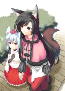 Rating: Safe Score: 22 Tags: aino-san_(miximixi39) animal_ears imaizumi_kagerou inubashiri_momiji tail touhou User: Mr_GT