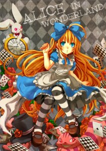 Rating: Safe Score: 11 Tags: alice alice_in_wonderland dress pantyhose thighhighs white_rabbit yumigon User: Radioactive