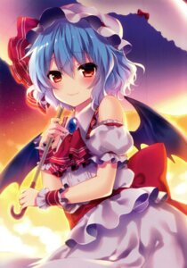 Rating: Safe Score: 61 Tags: eterna-radiare remilia_scarlet riichu touhou umbrella wings User: charunetra