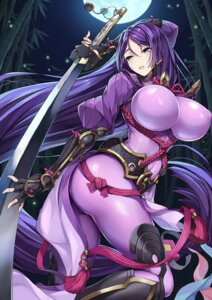 Rating: Questionable Score: 35 Tags: armor ass bodysuit erect_nipples fate/grand_order ji_dan minamoto_no_raikou_(fate/grand_order) sword User: mash