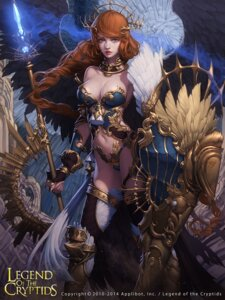 Rating: Safe Score: 41 Tags: armor bikini_armor cleavage lange legend_of_the_cryptids thighhighs weapon wings User: blooregardo