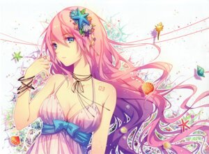 Rating: Safe Score: 114 Tags: cleavage megurine_luka tattoo tid vocaloid User: yong