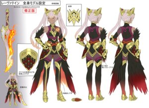 Rating: Questionable Score: 10 Tags: armor character_design fire_emblem fire_emblem_heroes laevatein maeshima_shigeki nintendo sword thighhighs User: fly24