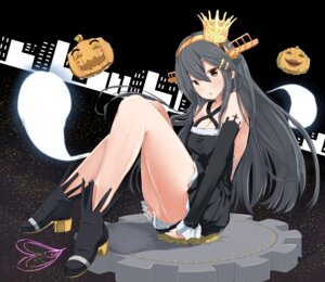 Rating: Safe Score: 45 Tags: ame-rain cleavage halloween haruna_(kancolle) heels kantai_collection nopan User: Mr_GT