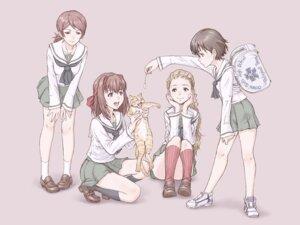 Rating: Safe Score: 16 Tags: girls_und_panzer isobe_noriko kawanishi_shinobu kondou_taeko neko sasaki_akebi seifuku yoshikawa_kazunori User: Radioactive