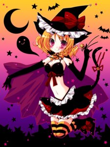 Rating: Safe Score: 22 Tags: animal_ears halloween jpeg_artifacts kirisame_marisa meiya_neon nekomimi tail thighhighs touhou witch User: blooregardo