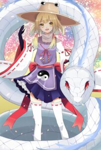 Rating: Safe Score: 19 Tags: mishaguji moriya_suwako ozon thighhighs touhou User: Mr_GT