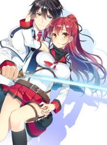 Rating: Safe Score: 62 Tags: hagure_makenshi_to_kyoumei_shoujotai mmu seifuku sword weapon User: donicila