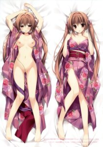 Rating: Questionable Score: 119 Tags: breasts dakimakura karomix karory kimono nipples no_bra nopan open_shirt User: Twinsenzw