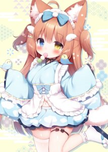 Rating: Questionable Score: 23 Tags: animal_ears garter koma_momozu maid tail thighhighs wa_maid User: ryoga828