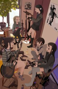 Rating: Safe Score: 22 Tags: guitar gun kokudou_juunigou megane pantyhose User: Radioactive