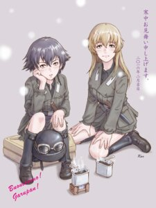 Rating: Safe Score: 14 Tags: carpaccio girls_und_panzer pepperoni uniform weapon yoshikawa_kazunori User: Radioactive