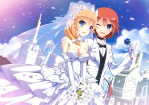 Rating: Safe Score: 38 Tags: cleavage crossdress dress nelson_(zhanjianshaonv) rodney_(zhanjianshaonv) uiu wedding_dress yuri zhanjianshaonv User: blooregardo