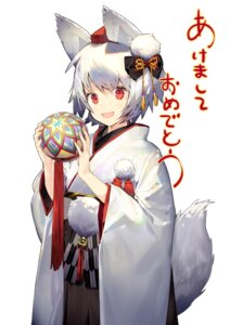 Rating: Safe Score: 20 Tags: animal_ears inubashiri_momiji kimono misoni_comi tail touhou User: Mr_GT