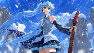 Rating: Safe Score: 39 Tags: bob guitar hatsune_miku headphones tattoo vocaloid wallpaper User: Noodoll